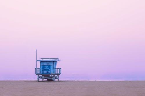 Free stock photo of beach, blue, fog, pink sky