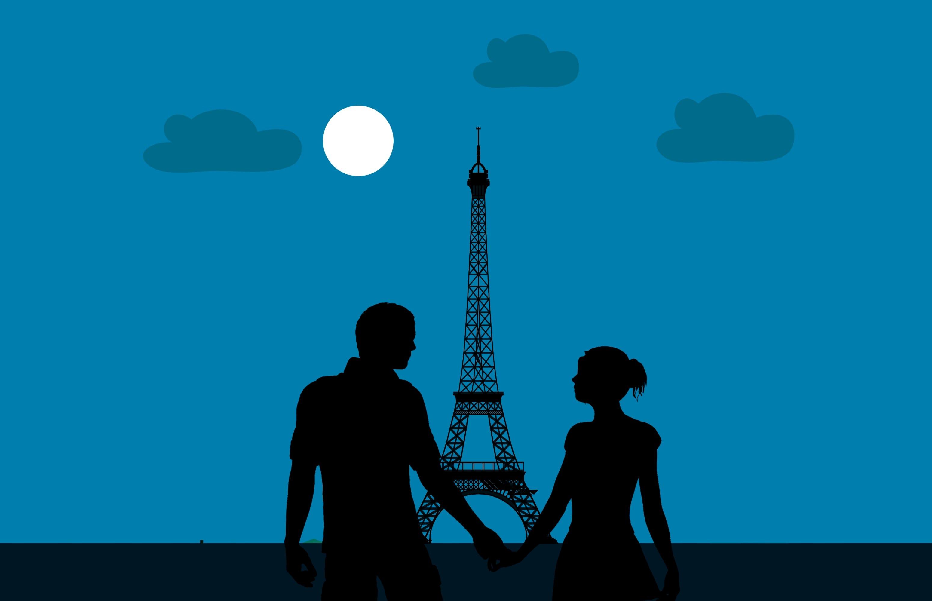 Free stock photo of city, couple, eiffel, europe