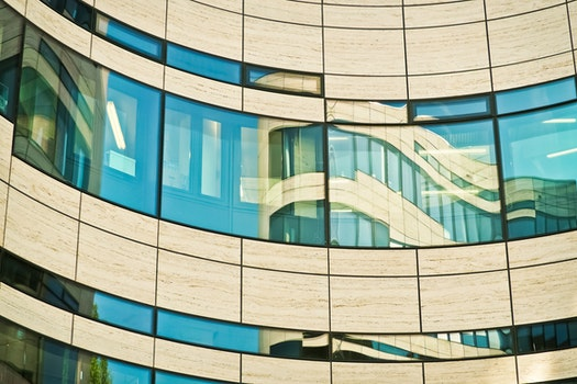 Free stock photo of city, blue, building, abstract