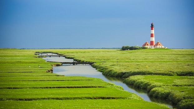Free stock photo of landscape, sky, water, field