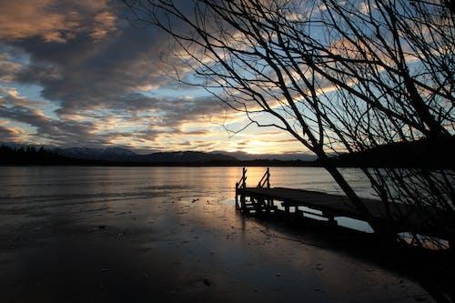 Photos gratuites de aube, ciel, eau, jetée