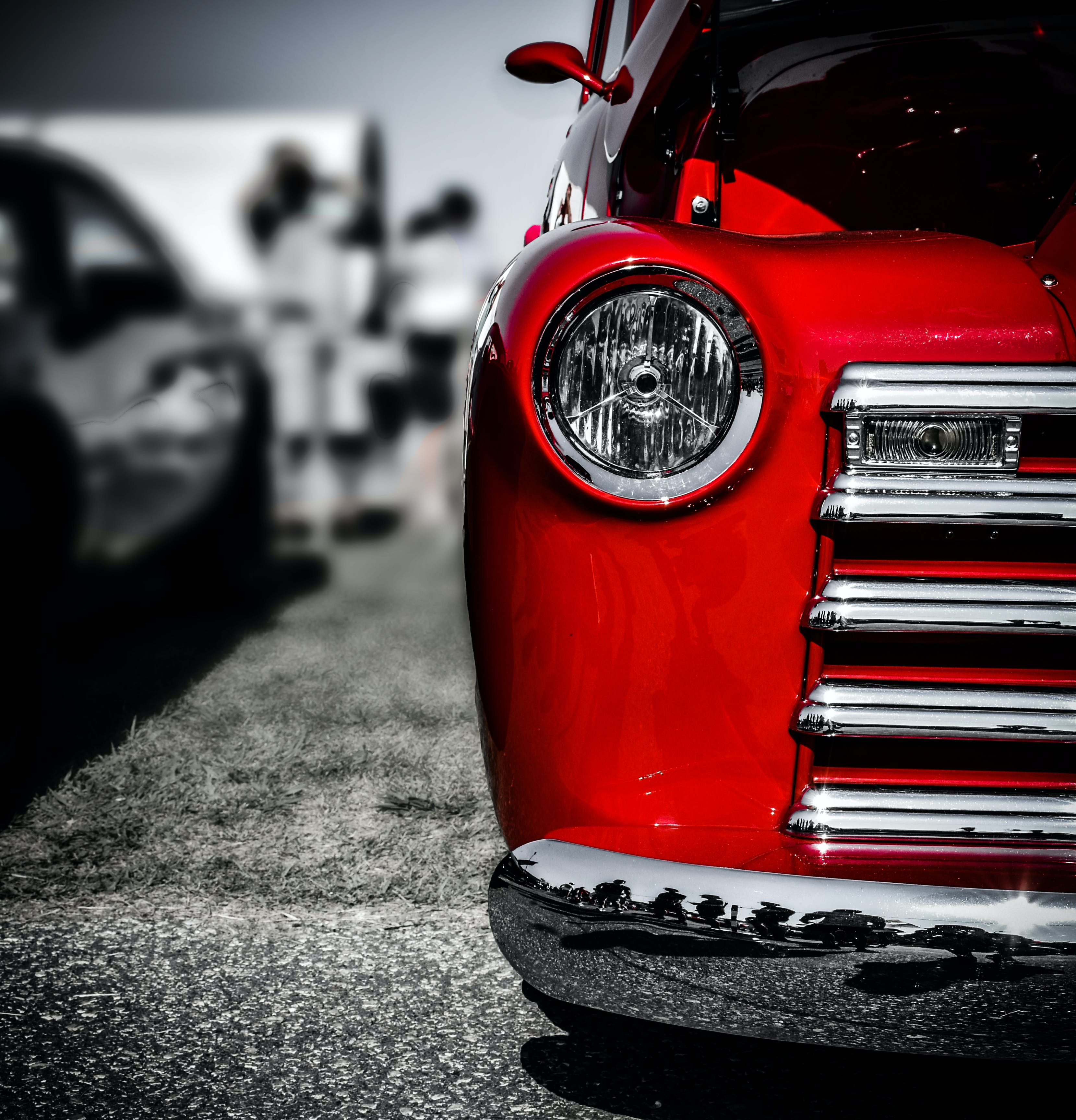 Free stock photo of car, chrome, phone wallpaper, red car