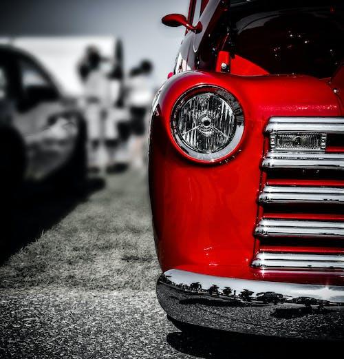 Základová fotografie zdarma na téma auto, červené auto, chrom, tapeta telefonu