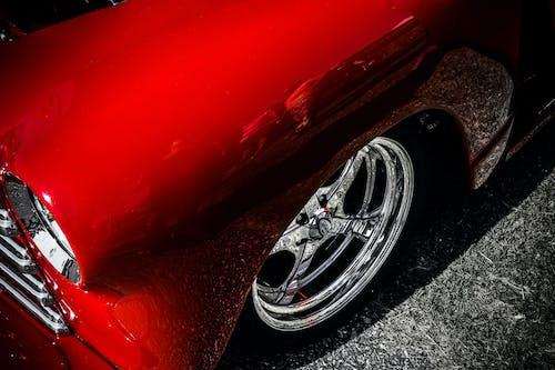 Základová fotografie zdarma na téma 4k tapeta, auto, červené auto, pickup