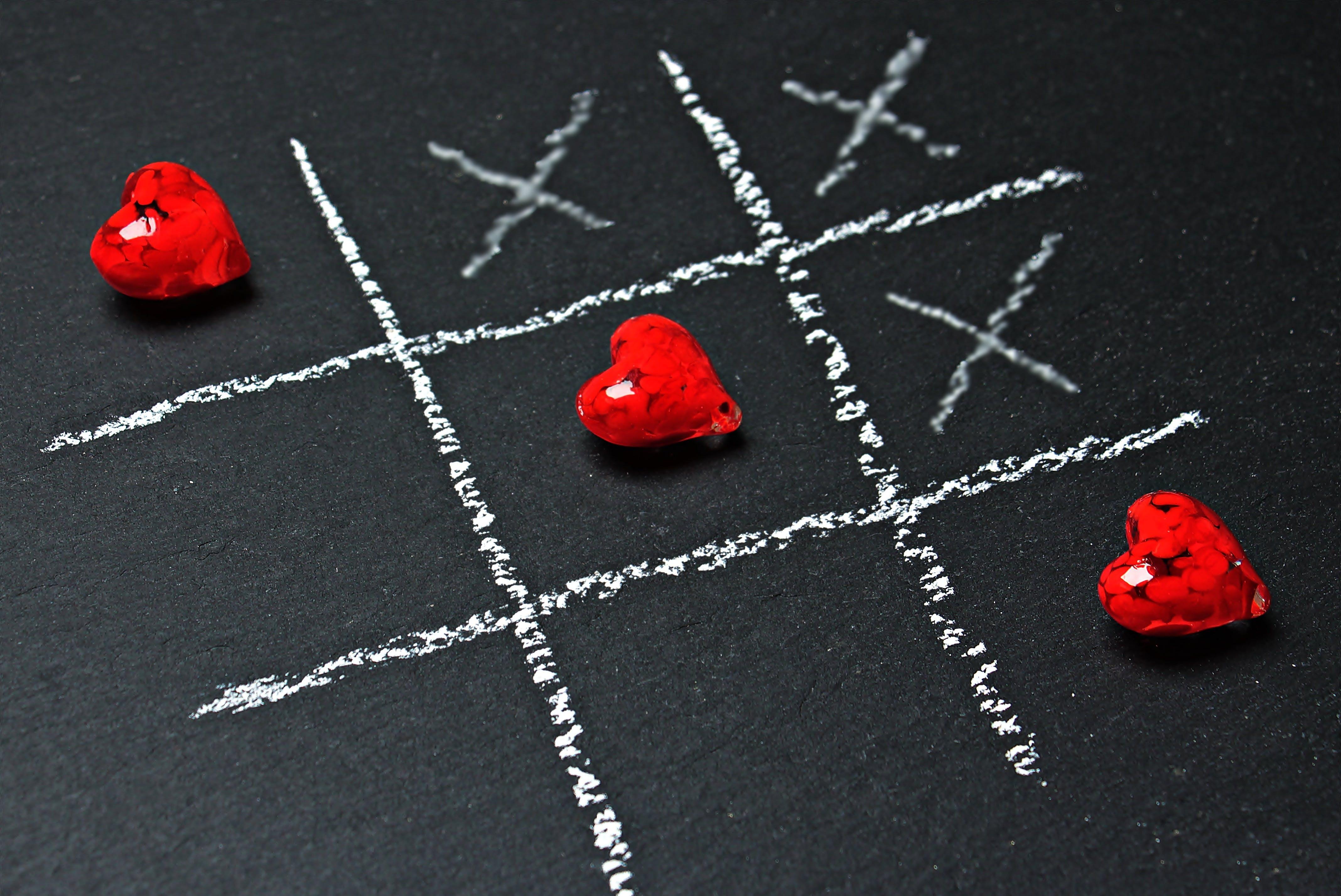 Three Red Heart Decors