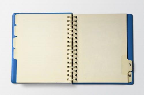 Photos gratuites de bleu, bloc, cahier, document