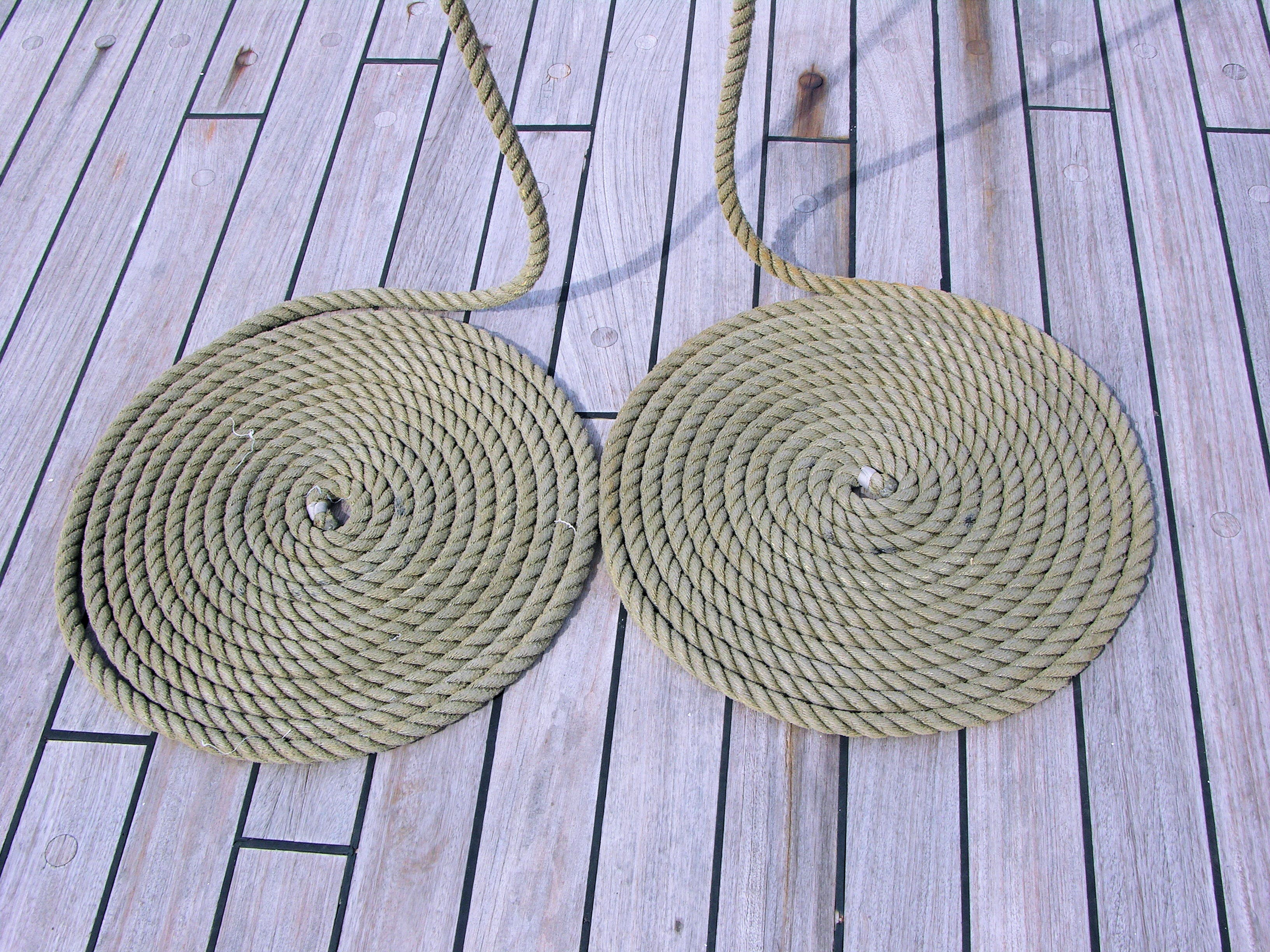 Two Round Brown Ropes