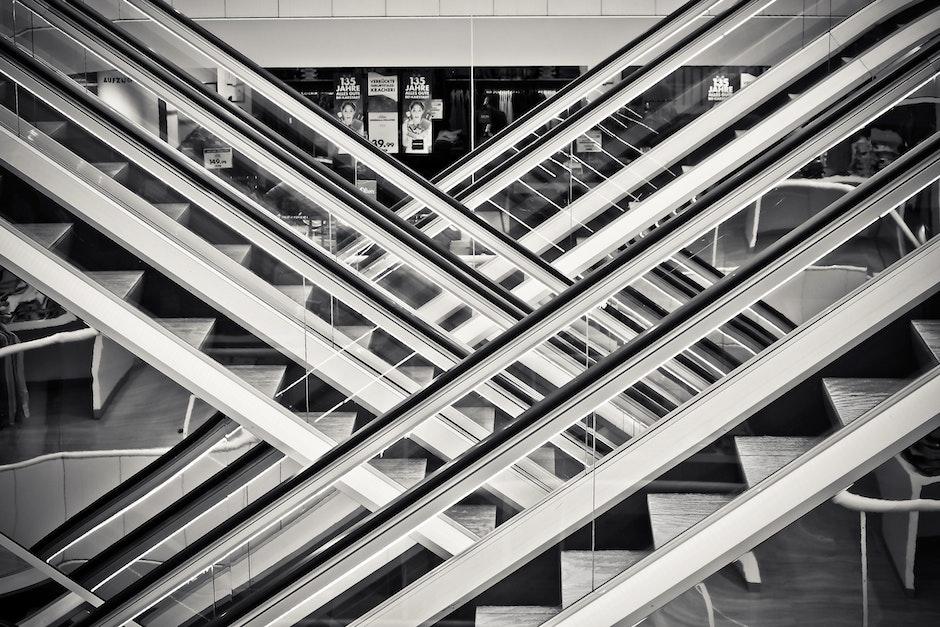 architektur, gebäude, schwarz und weiß