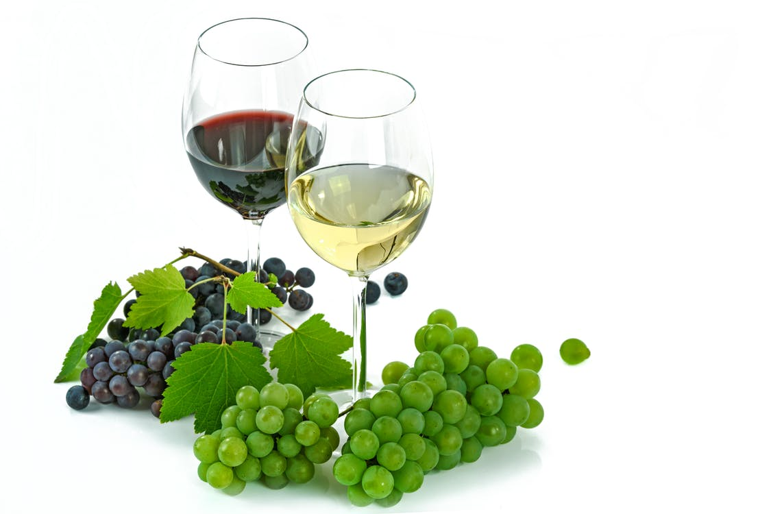 Free stock photo of alcohol, an isolated, bunch of grapes