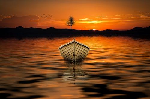 Základová fotografie zdarma na téma člun, obloha, odraz, plavidlo