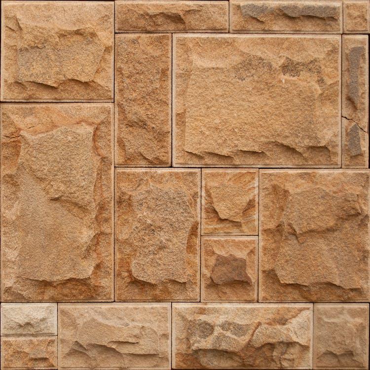 asymétrie, béton, brun