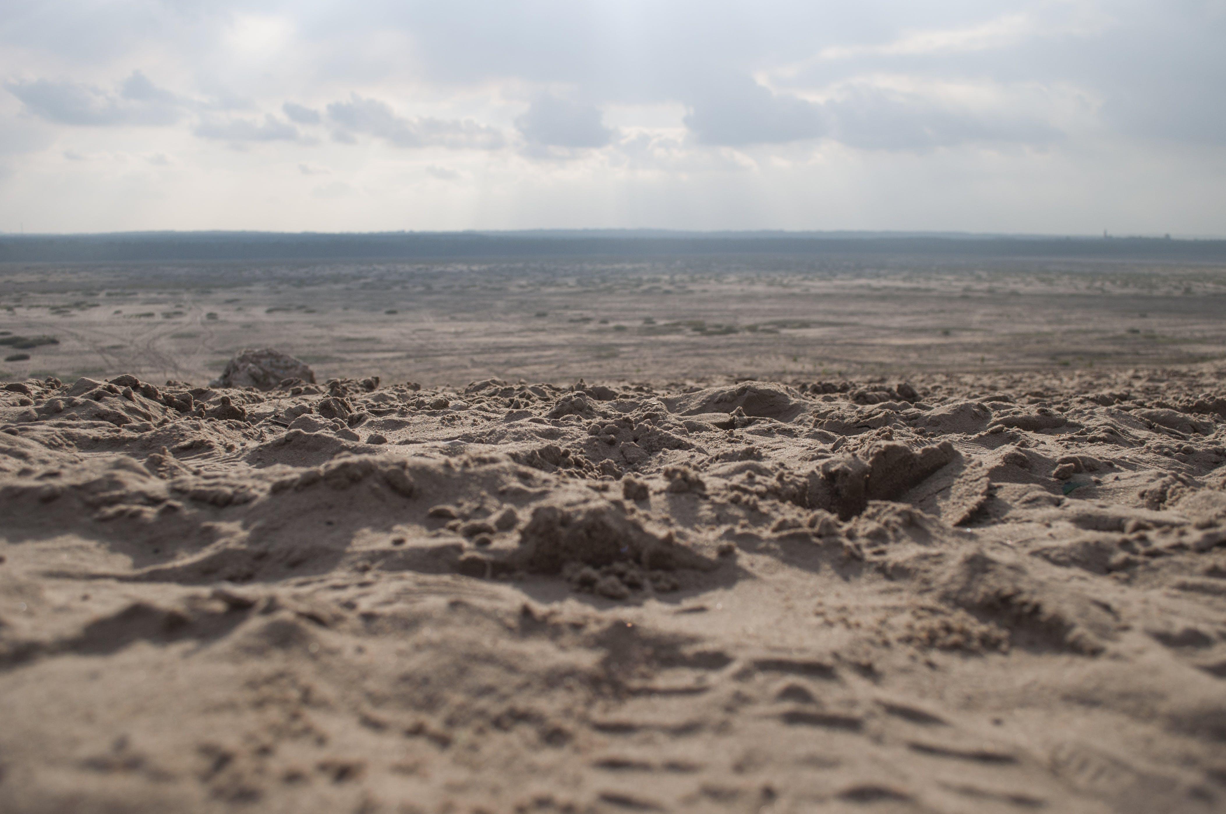 arid, barren, clouds