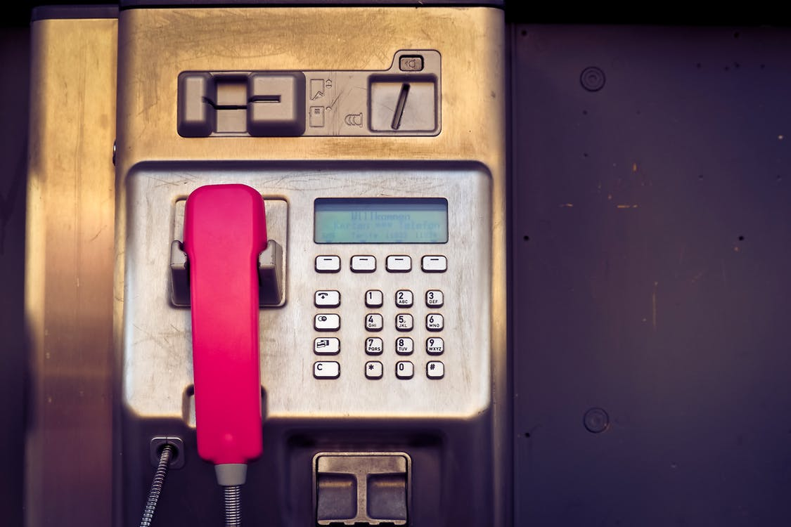 Red and Brown Payphone