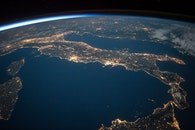 lights, earth, space
