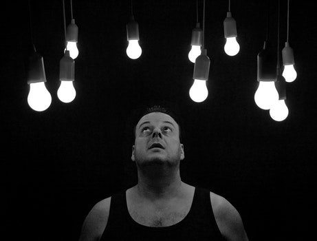 Free stock photo of light, black-and-white, man, person