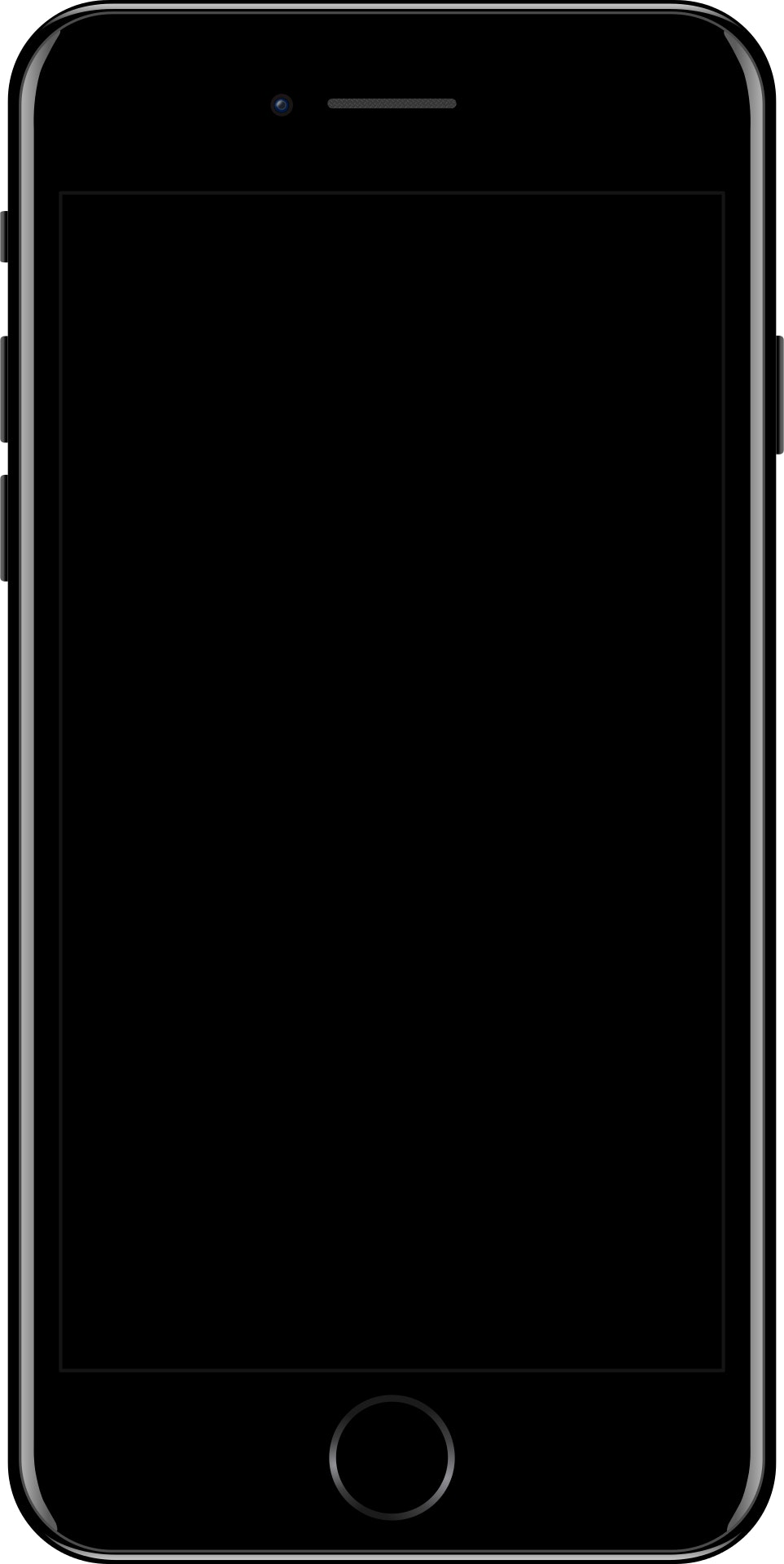 Jet Black Iphone 7 Free Stock Photo