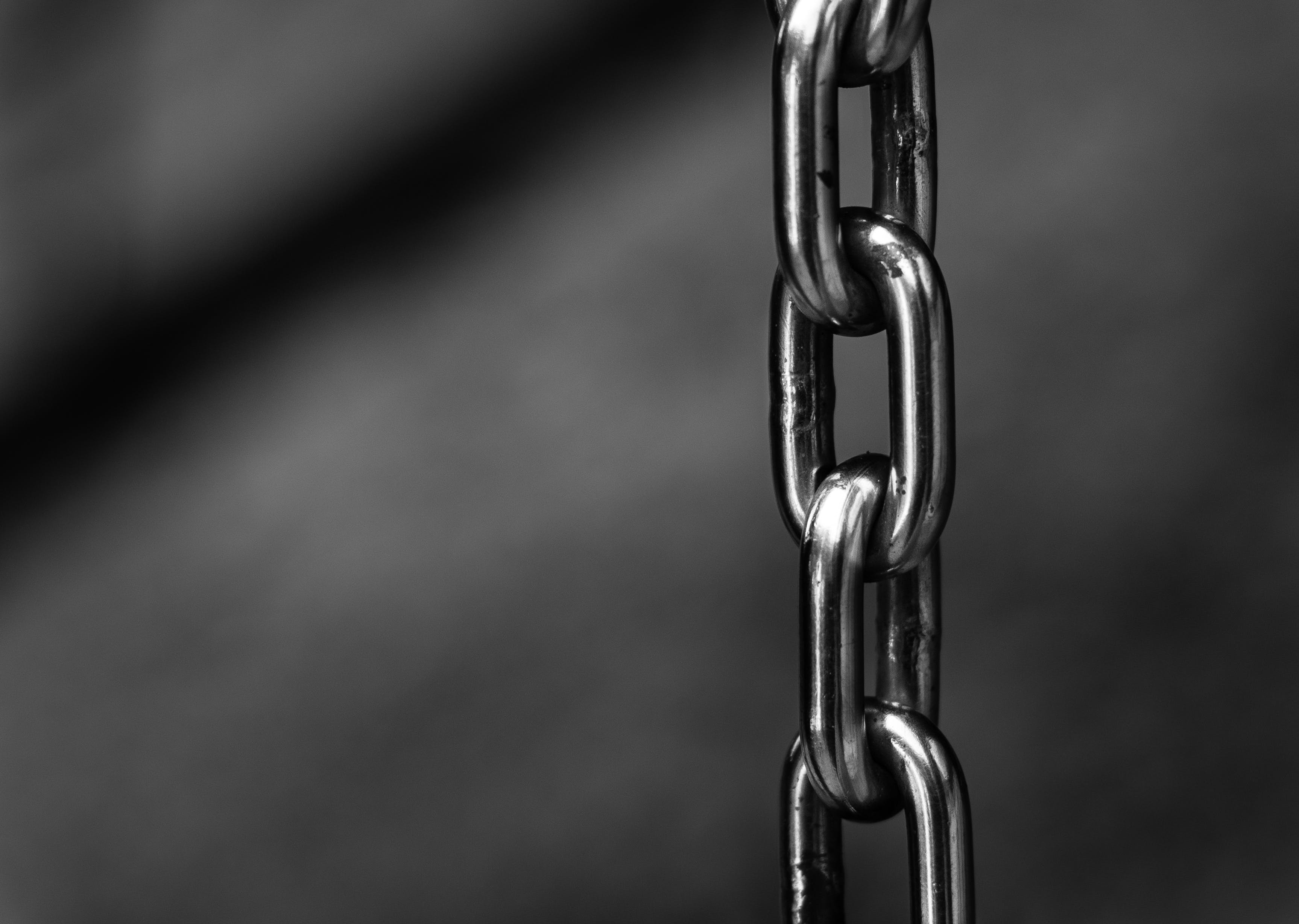 Grayscale Photography of Chain