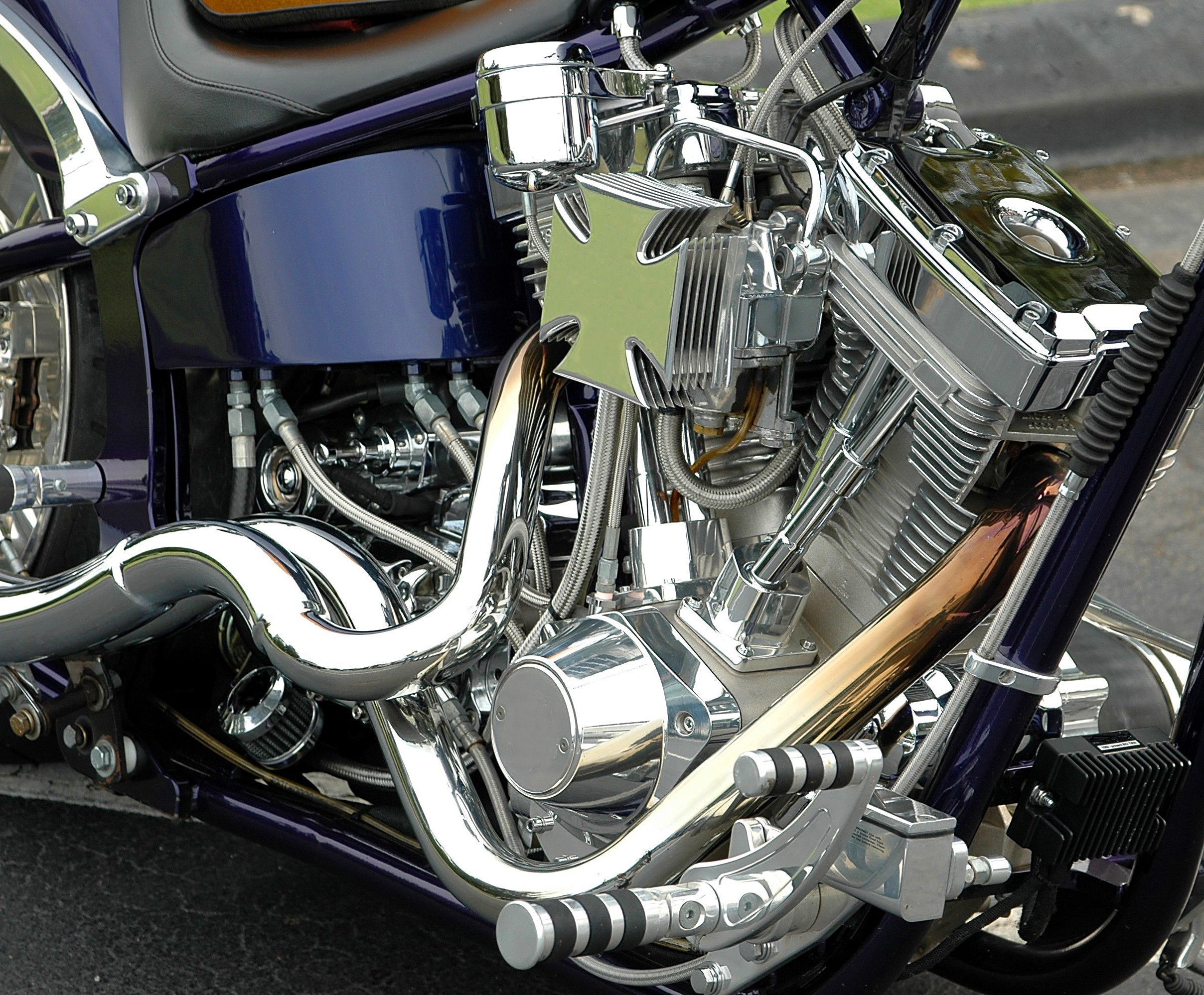 Motorcycle Engine Close-up Photo