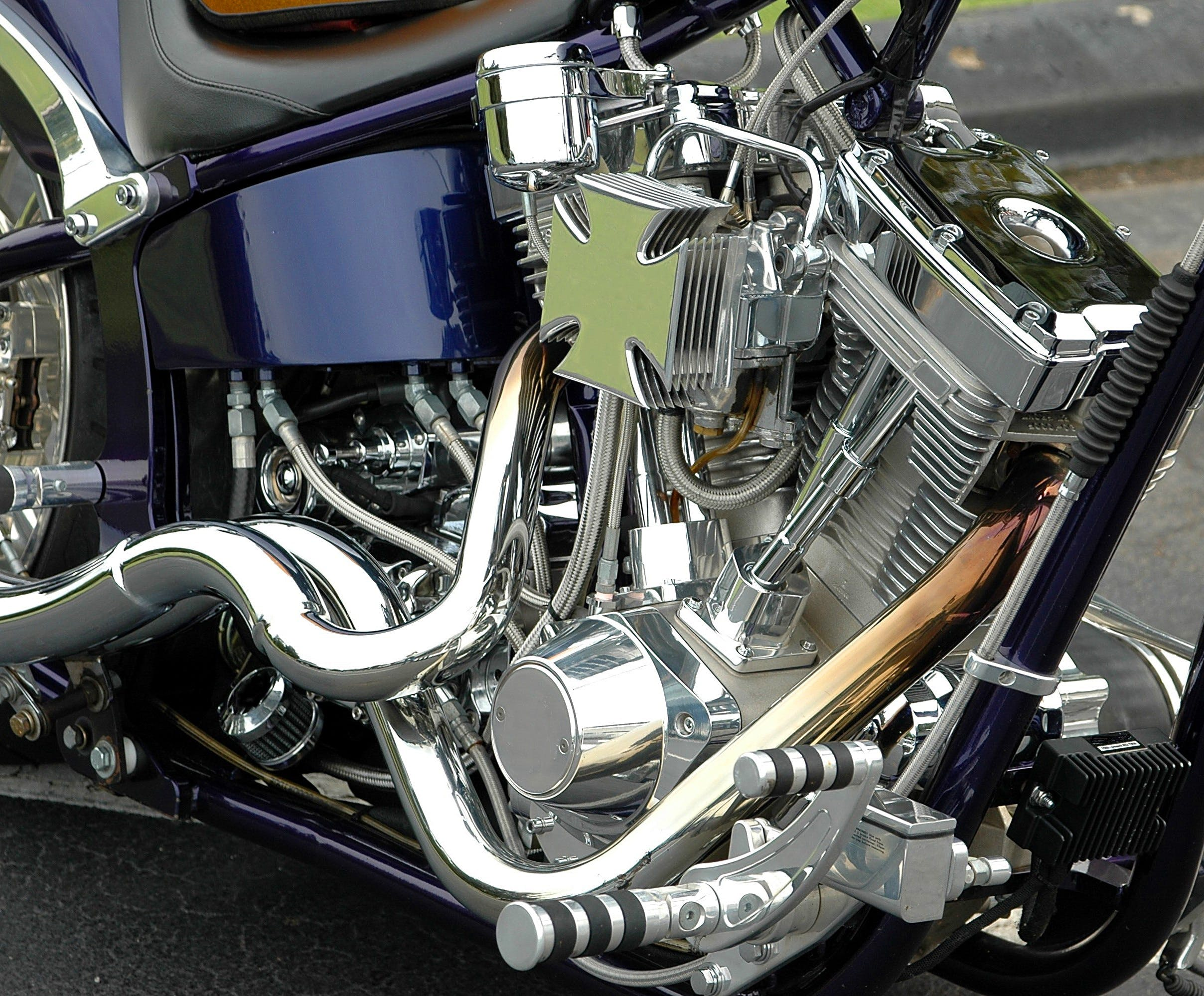 bike, chrome, clean