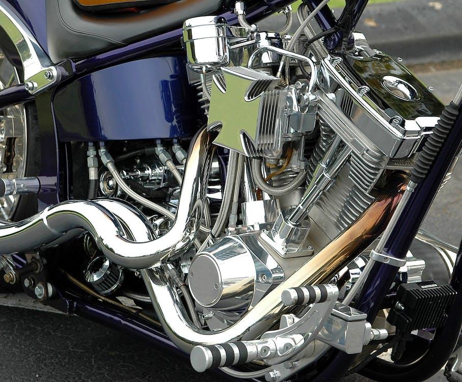 Motorcycle Engine Close-up Photo