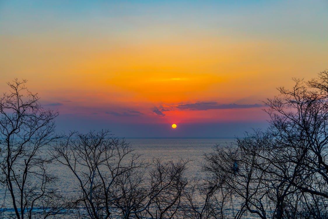 deniz, doğa, gün batımı