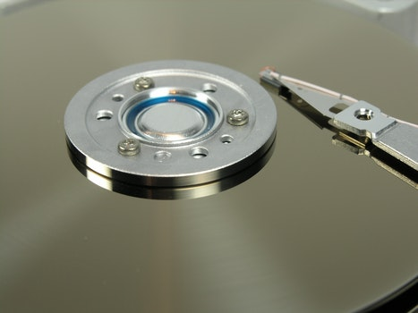 Stainless Steel Hard Disc Drive Interior