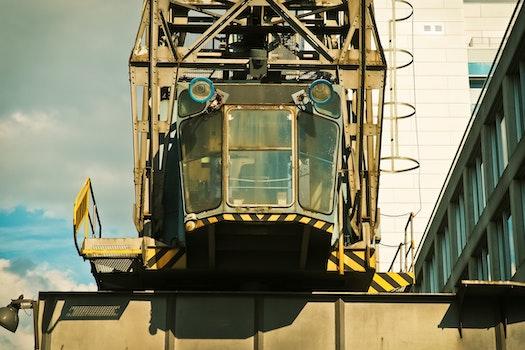 Free stock photo of crane, large, equipment, machinery