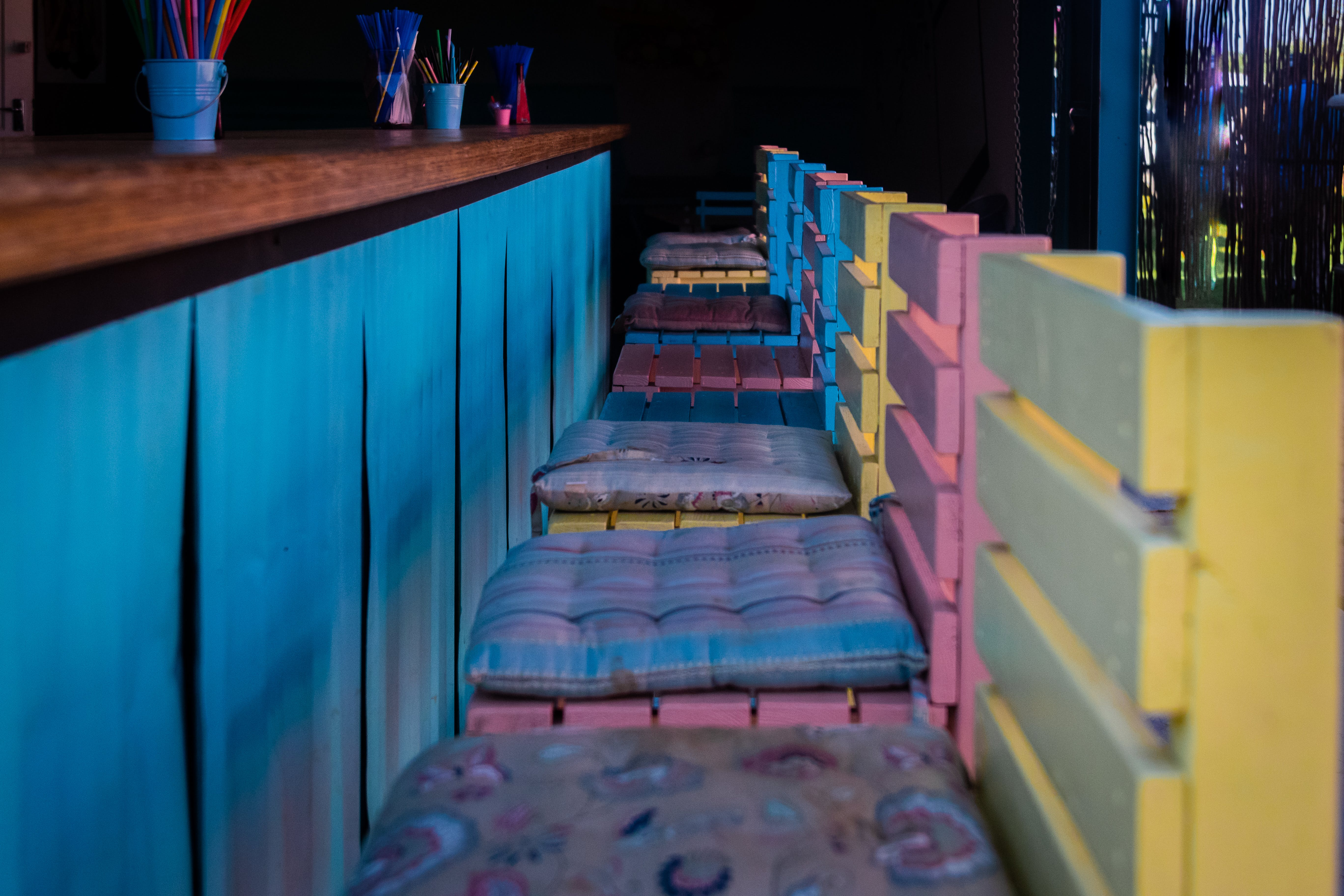 Free stock photo of bar, bright, chairs, colourful