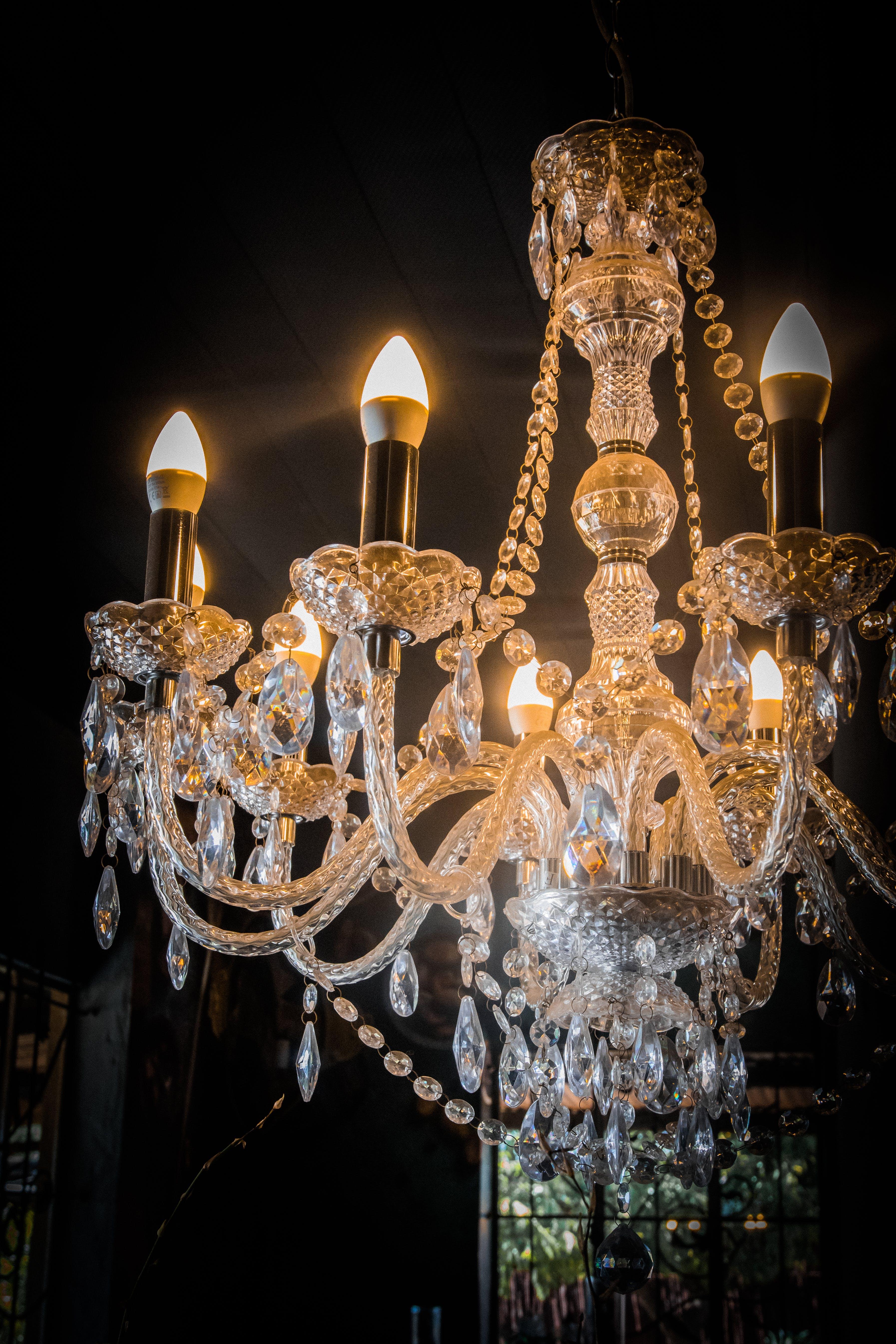 Free stock photo of bright, chandelier, decor, interior