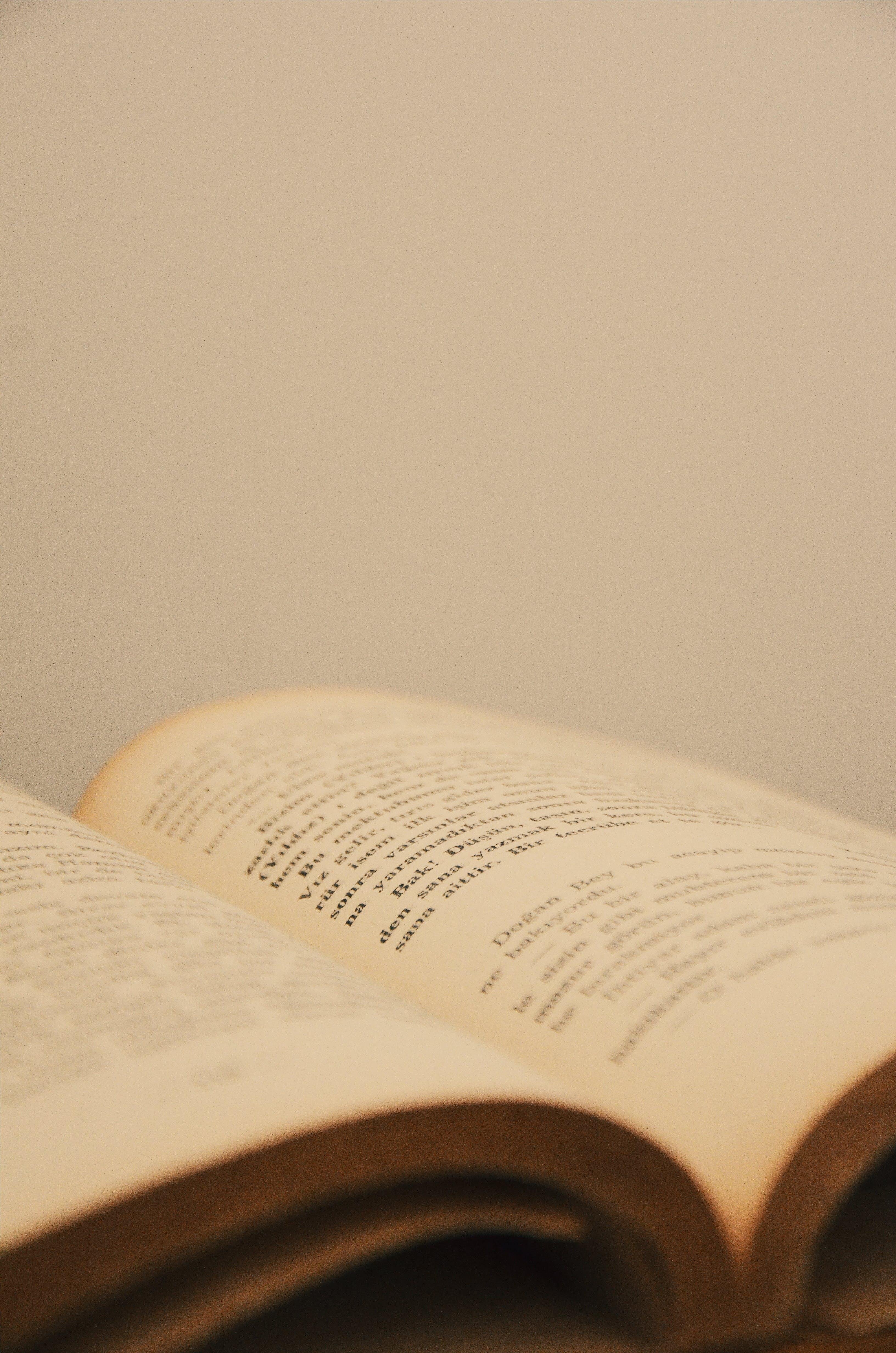 Foto profissional grátis de impressão, livro, texto