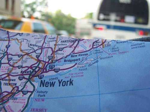 Free stock photo of road map