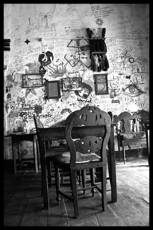 Бесплатное стоковое фото с для стены, черно-белый