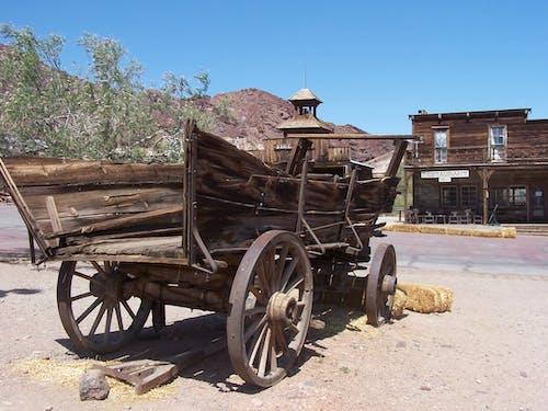 Free stock photo of Cowboy Town, cowboys, wagon