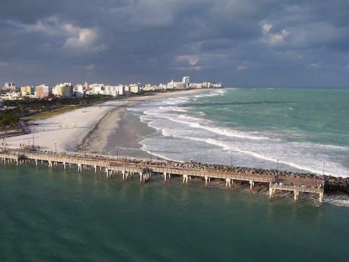 Free stock photo of beach, cruise ship, Miami Beach, ocean