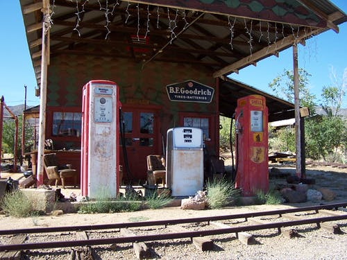 Free stock photo of gas station, Old town USA, petrol station