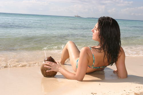 Free stock photo of beach, girl