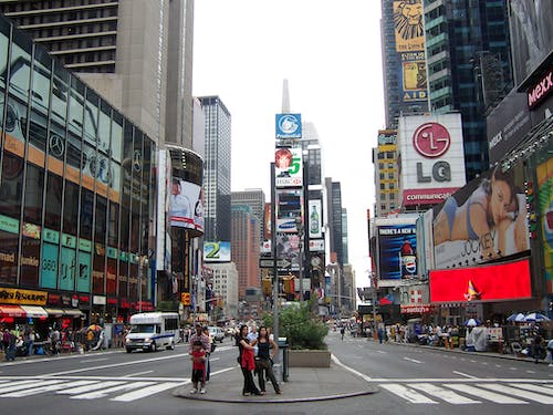 Free stock photo of city, people, time square, traffic