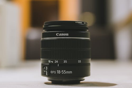 Close-Up Photo of Canon Lens
