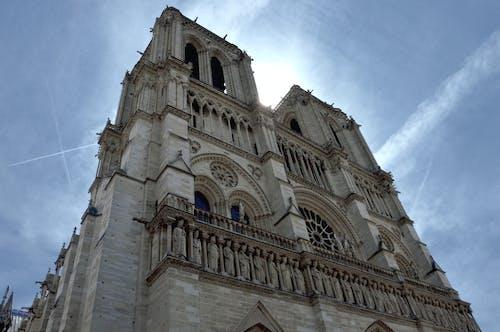 Безкоштовне стокове фото на тему «notre dame, notre-dame de paris, блакитне небо, небо»