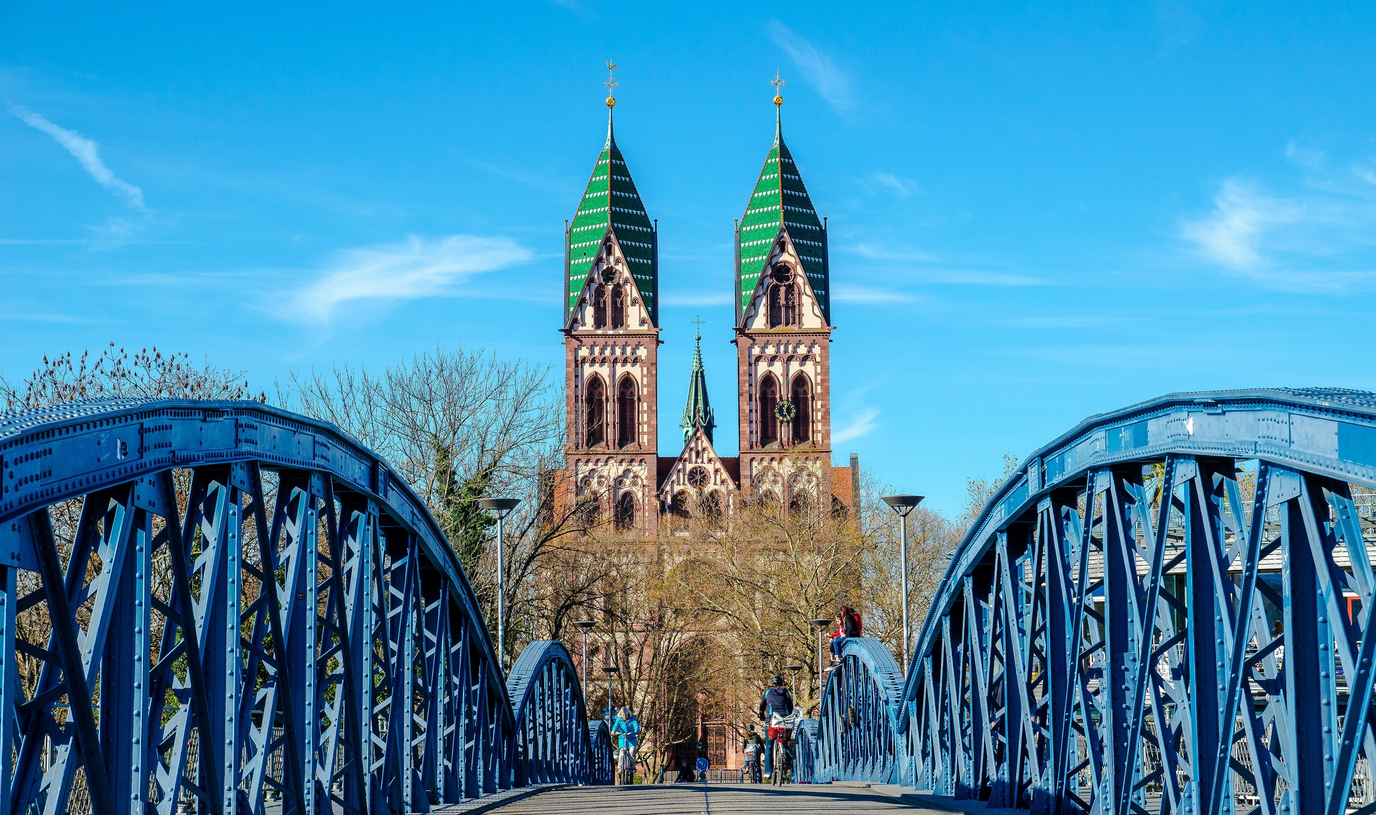 Free stock photo of blue, bridge, church, Freiburg