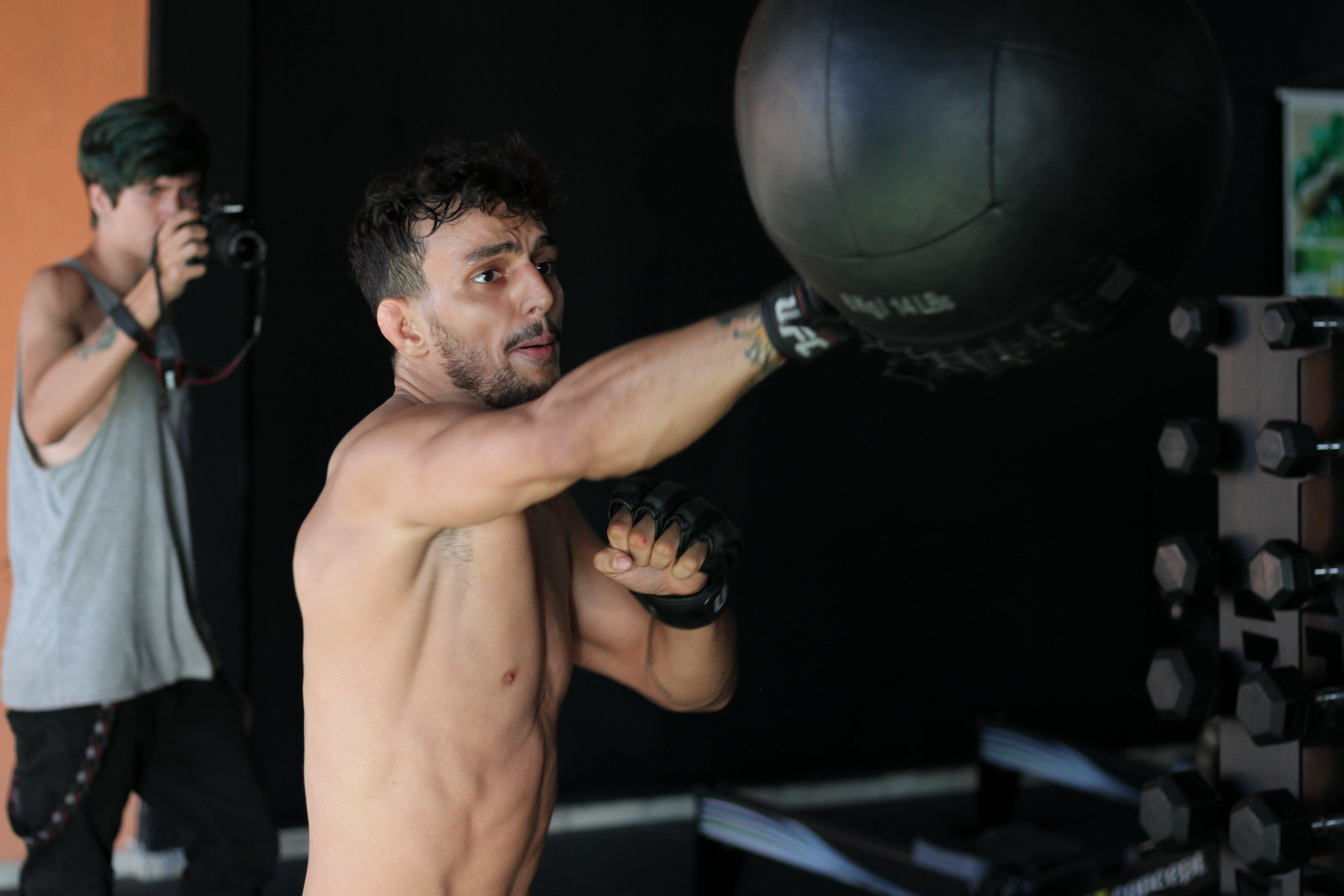 Man Boxing Speed Bag