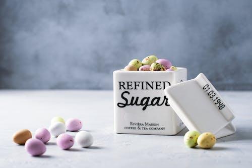 Základová fotografie zdarma na téma barevný, chutný, čokoládové vejce, cukr