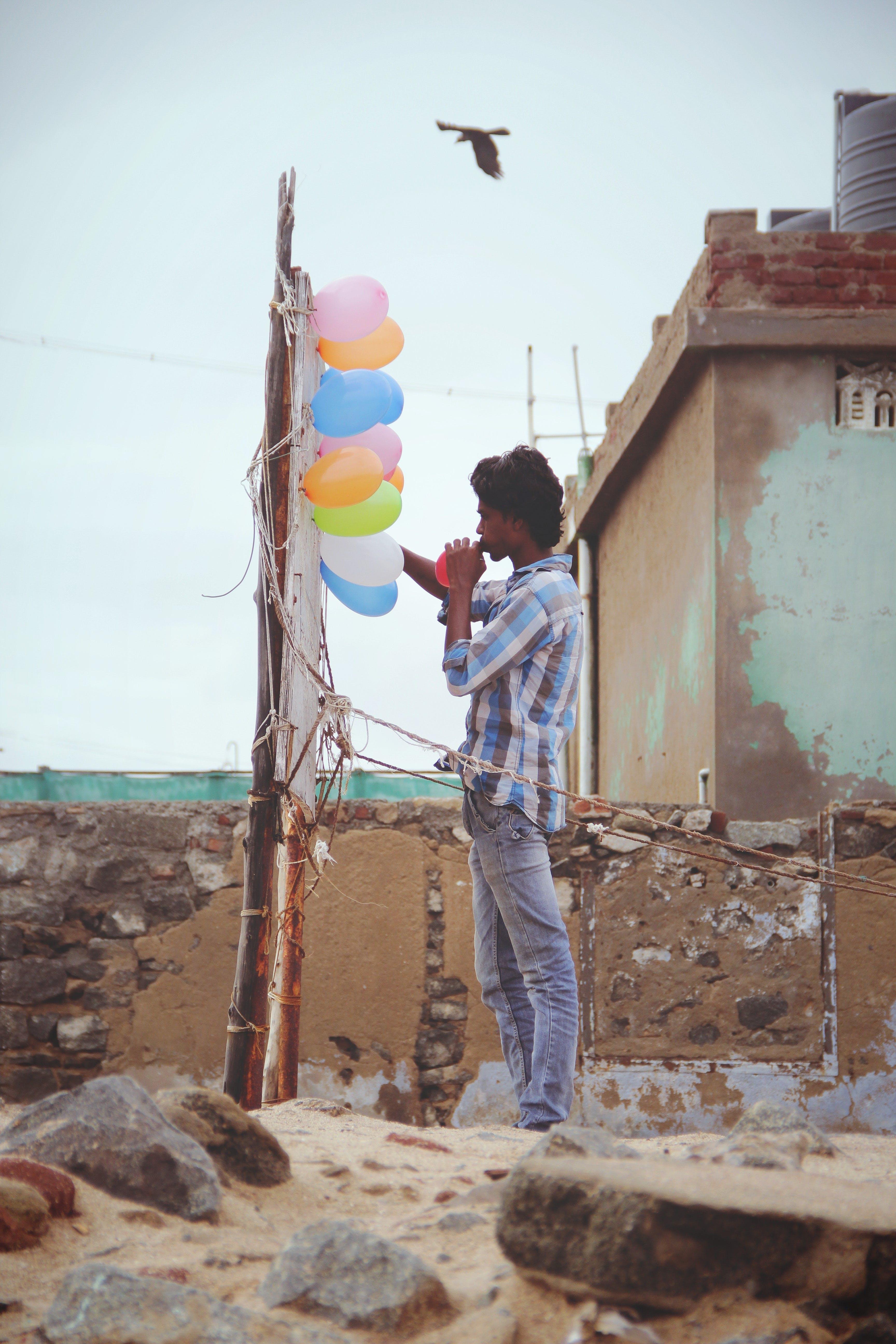 Kostenloses Stock Foto zu arbeit, arbeiter, ballons, bunt