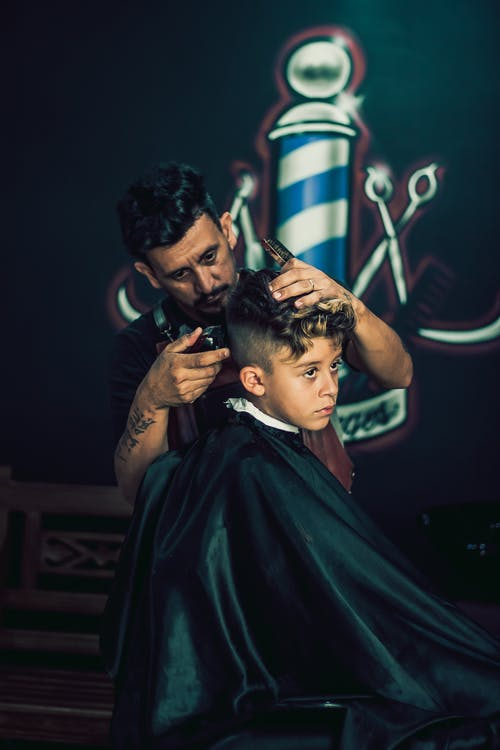 Barber Grooming Kid