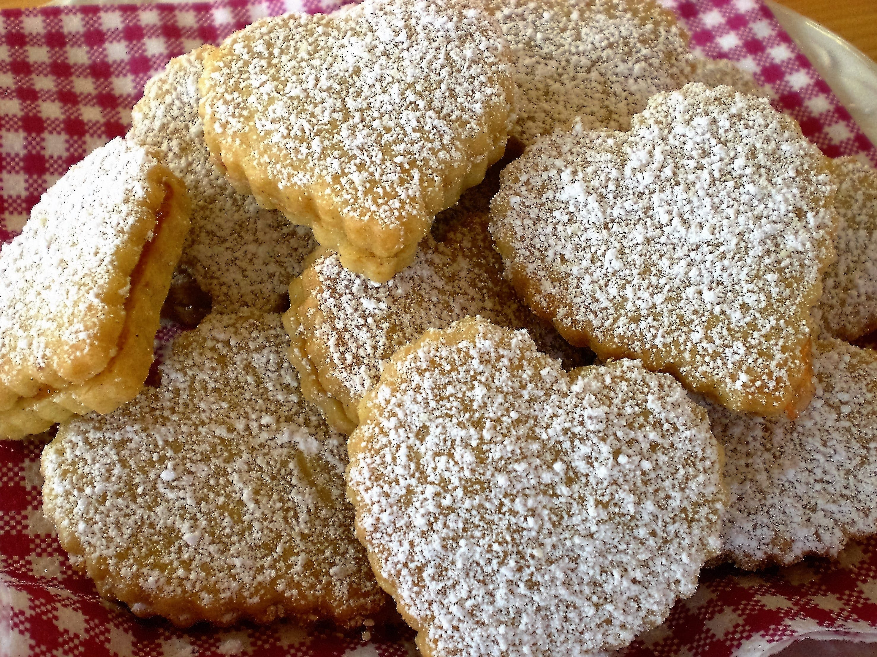 Baked Biscuits on Top of Textile