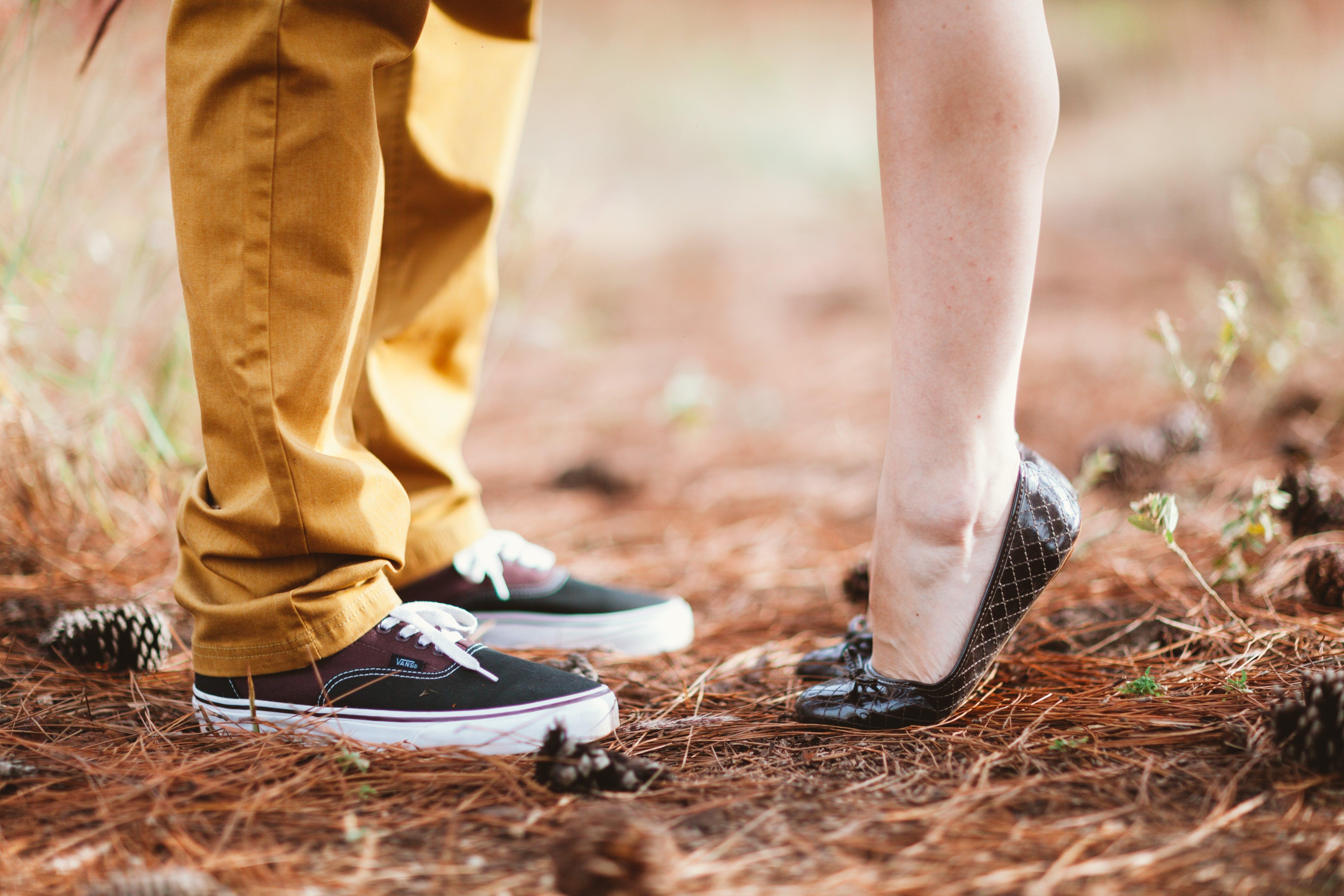 Black Argyle Flat Shoes