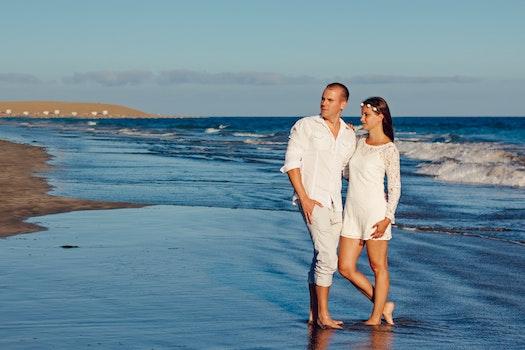 Man and Woman Near Seashore