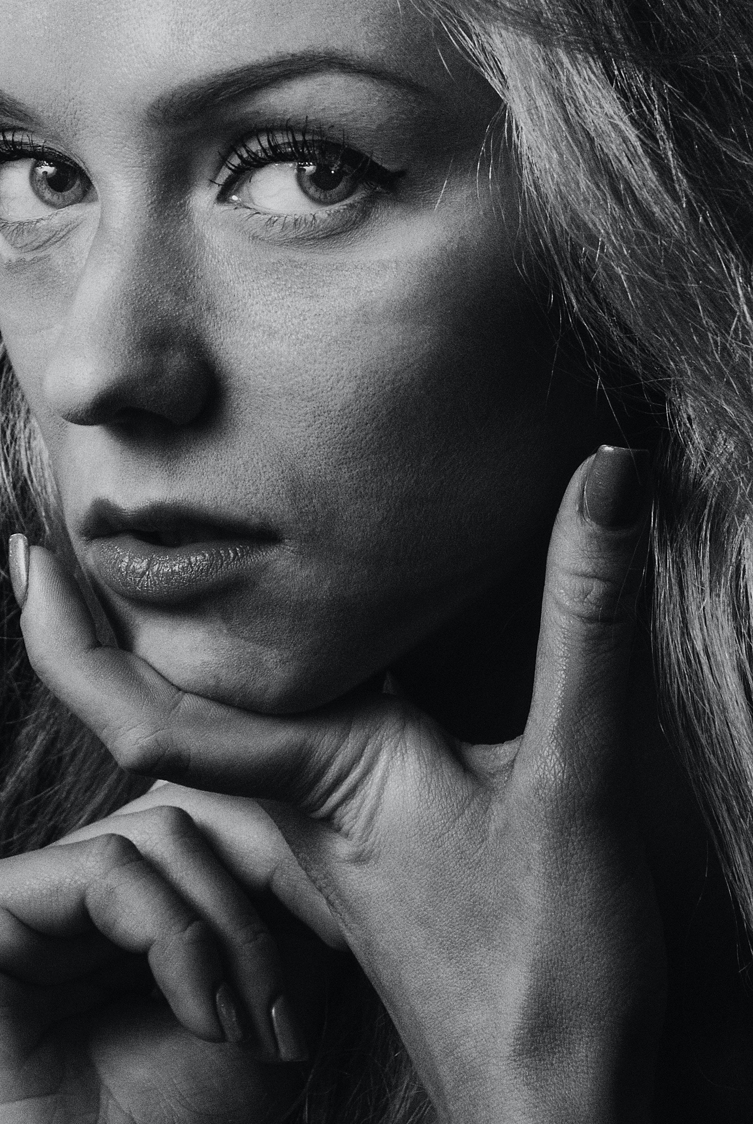 คลังภาพถ่ายฟรี ของ глаза, губы, девушка, женскийпол