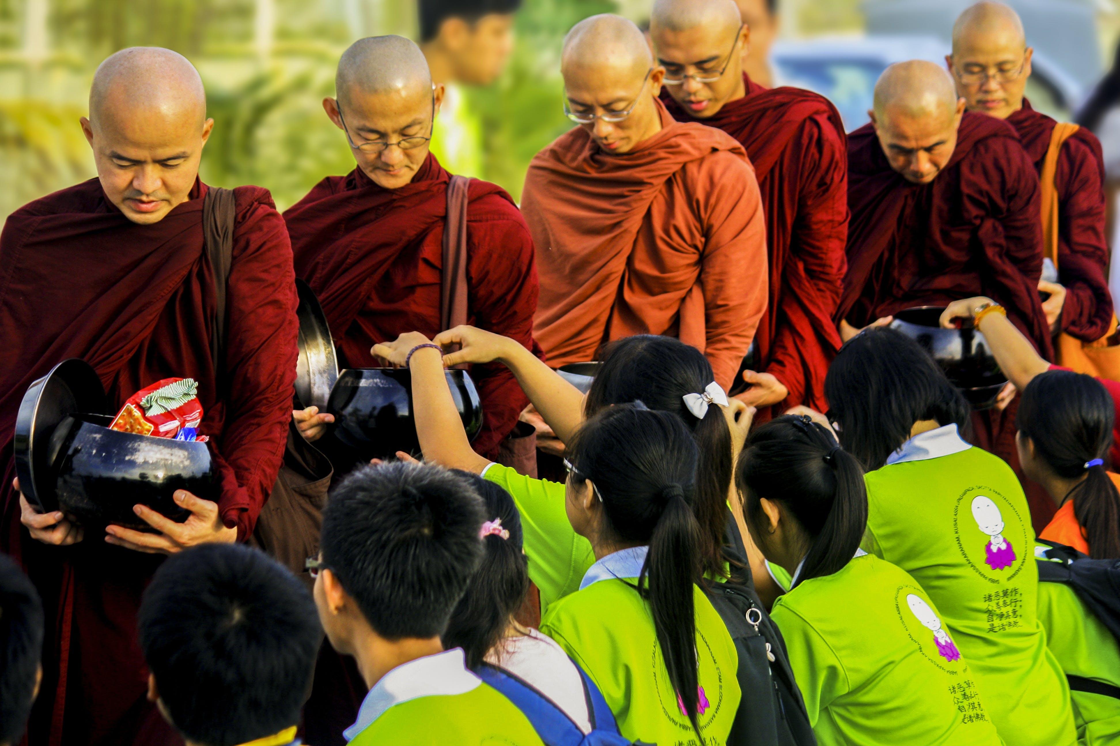 Monks Standing Outdoor