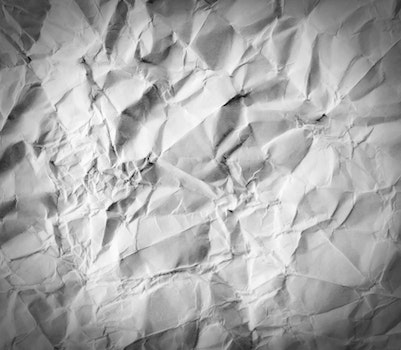 White Crumpled Paper